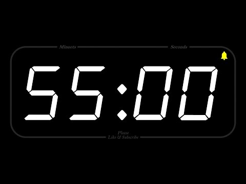 55 MINUTE - TIMER & ALARM - 1080p - COUNTDOWN