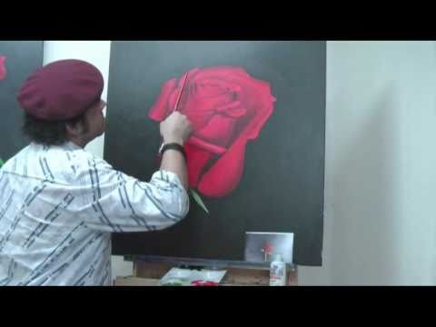 Art Lesson: How to Paint a Rose with a Twist  using Acrylic Paint