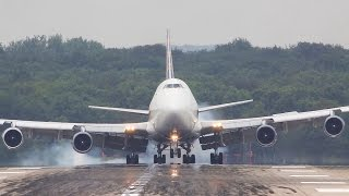 Video Boeing 747 LANDING and DEPARTURE - Smokey touchdown, ATLAS B747 MP3, 3GP, MP4, WEBM, AVI, FLV Juli 2018