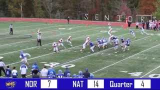 Norwood vs. Natick Football Highlight