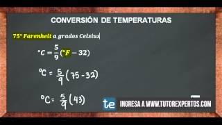 Este vídeo explica de manera práctica y ejemplificada como realizar una Conversión entre Sistemas de Medición de Temperaturas y las fórmulas que se ...