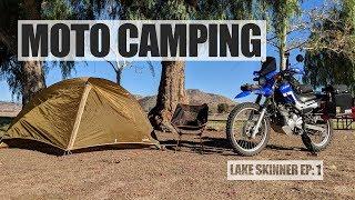 9. XT250 Motorcycle Camping: Lake Skinner Part 1