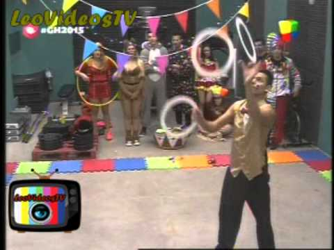 Ganaron la Prueba Semanal circense en vivo parte 1 GH 2015 #GH2015 #GranHermano