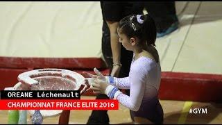 Oréane Léchenault participait au championnat de France Elite 2016 qui a eu lieu à Mulhouse. Avec un total de 55.250 points, elle termine à la 6e place.Pour retrouver Oréane, abonnez-vous ! Facebook : https://www.facebook.com/OreaneGym/Insta : https://www.instagram.com/oreane_simba/Site : http://gymsport.fr/