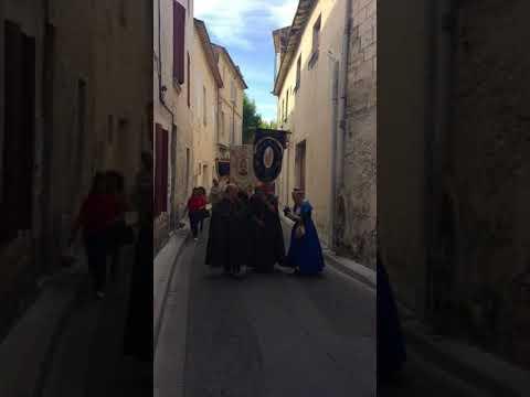 Procession de la messe de sainte Marie-Madeleine, beaucaire le 22/07/18