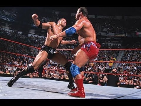 The Rock and Stone Cold Vs Kurt Angle and  Chris Jericho- RAW