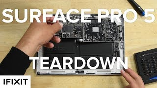 It's the Microsoft Surface Pro 5 and it looks nearly identical to the last version. Same ports, in exactly the same places, even the same physical dimensions. In fact the only way we can tell this is the new Surface Pro is by the more discrete vents. We have a feeling this teardown is going to give us a little deja vu. But we can't be sure until we dig in, so let's teardown down Microsoft's Surface Pro 5.Get yourself and iOpener to take apart your Surface Pro (or any other tablet!)https://www.ifixit.com/Store/Tools/iOpener/IF145-198-6?utm_source=surfacepro5&utm_medium=description&utm_campaign=YouTubeA Pro Tech Toolkit will also come in handy!https://www.ifixit.com/Store/Parts/Pro-Tech-Toolkit/IF145-307-1?utm_source=surfacepro5&utm_medium=description&utm_campaign=YouTubeCheck out the full Teardown at iFixit.comhttps://www.ifixit.com/Teardown/Microsoft+Surface+Pro+5+Teardown/92362?utm_source=surfacepro5&utm_medium=description&utm_campaign=YouTubeSubscribe to our channel for all our latest teardown and repair videos!https://www.youtube.com/subscription_center?add_user=ifixityourselfFollow us on Twitter: https://twitter.com/ifixitCheck us out on Facebook: https://www.facebook.com/iFixit