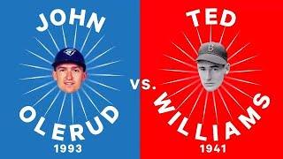 Here's how John Olerud's outstanding 1993 season stacks up against Ted Williams .400 season of 1941.