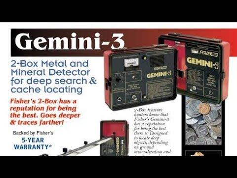 TWO BOX METAL DETECTOR FISHER GEMMINI 3 IN HINDI
