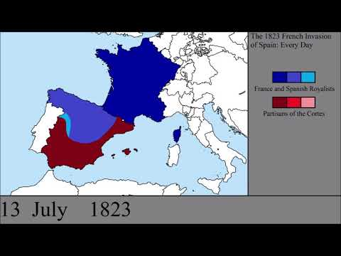 The 1823 French Invasion of Spain: Every Day