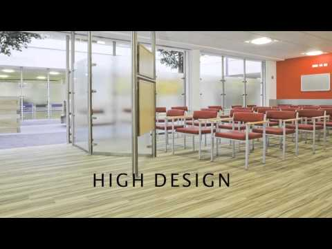 Resilient healthcare flooring