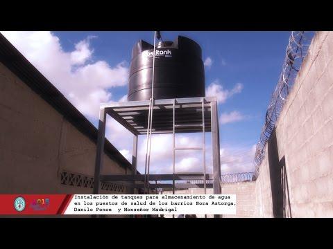 Instalación de tanques para almacenamiento de agua en Puestos de Salud Alcaldia de Ocotal N.S