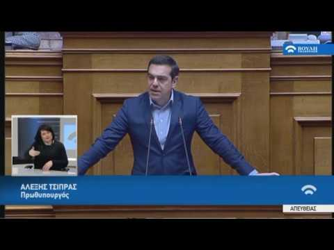 Α.Τσίπρας (Πρωθυπουργός) (Συζήτηση για το Δημογραφικό) (05/03/2019)