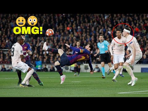 Lionel Messi bicycle kick against manchester united 2019