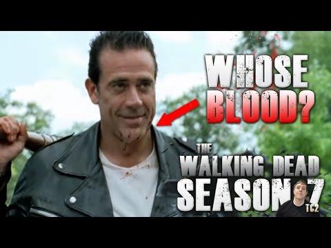 The Walking Dead Season 7 Mid-Season Finale - Whose Blood is on Negan?  Spoiler Warning!