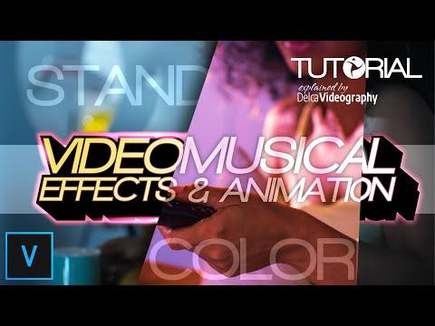 Videos musicales -  TUTORIAL: EFECTOS y ANIMACIONES para VÍDEOS MUSICALES en VEGAS PRO  DelcaVideography