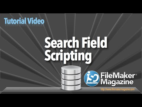 FileMaker Tutorial - Search Field Scripting