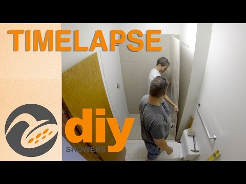 Time lapse. Installing a new Onyx Collection shower stall