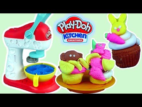 Play Doh Kuchnia • Mikser • Zwierzakowe & owocowe babeczki • Kreatywne zabawki