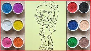 Video Đồ chơi trẻ em, tô màu tranh cát công chúa bánh anh đào - Colored sand painting toys (Chim Xinh) MP3, 3GP, MP4, WEBM, AVI, FLV Januari 2019