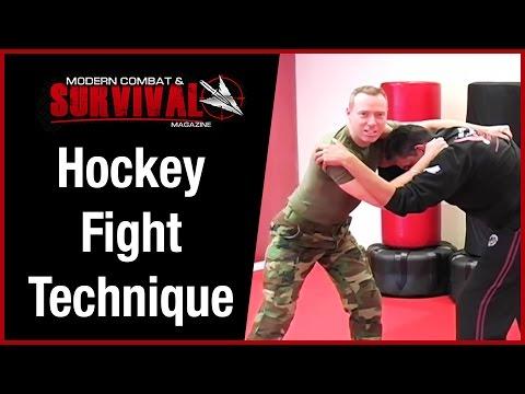 Close Quarters Combat Hockey Street Fight Technique