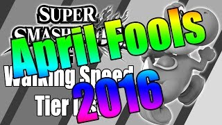 Smash Brothers for Wii U – Walking Speed Tier List