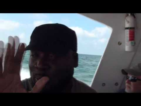 tseve - We are in the Speed boat goin to Belize from the ship.