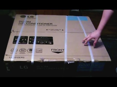 UNBOXING a Large Air Conditioner (AC) - 15,000 BTU - LG LWHD1500ER LW1512ERS