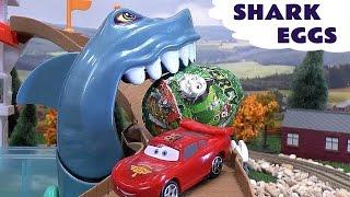 Shark Attack Kinder Surprise Eggs Cars Hot Wheels Thomas & Friends Super Hero Toys Iron Man