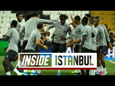 Video: Inside Istanbul: Liverpool prepare for Super Cup Final
