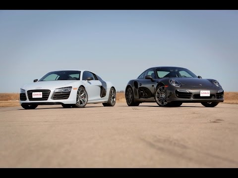 2014 Audi R8 V10 Plus vs. 2014 Porsche 911 Turbo