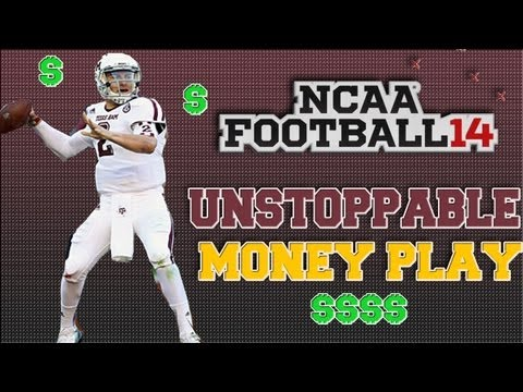 NCAA Football 14 Unstoppable MONEY PLAY Vs Man/Zone Coverage Tutorial