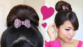 ♥ 1 Minute Perfect Fan Bun Updo Hairstyle | Hair Tutorial