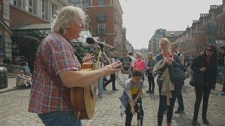 Download Lagu Streets of London  - Terry St Clair busking in Covent Garden Mp3