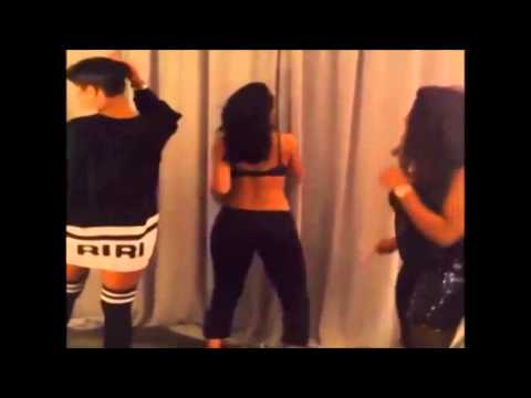 Rihanna Twerks To T Pain - Up Down Song