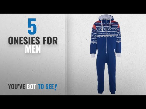 Top 10 Onesies For Men [2018]: UNISEX MENS AZTEC PRINT ONESIE ZIP UP ALL IN ONE HOODED JUMPSUIT S M