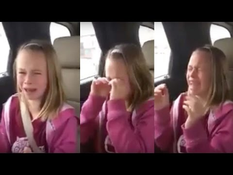 Little girl is moved to tears over Donald Trump!