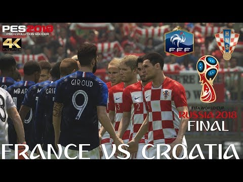 PES 2018 (PC) France V Croatia | 2018 FIFA WORLD CUP RUSSIA | FINAL | 15/7/2018 | 4K