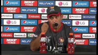 Live Post Match Press Conference Pakistan v United Arab Emirates - Napier.