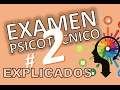 TEST PSICOTECNICOS OMNIBUS # 2 VARIADOS DE EXAMEN EXPLICADOS En español