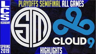 TSM vs C9 Highlights ALL GAMES | LCS Playoffs Semifinals Spring 2019 | Team Solomid vs Cloud9