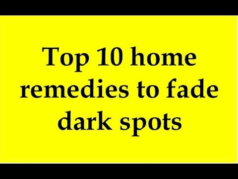 how to cure dark spots