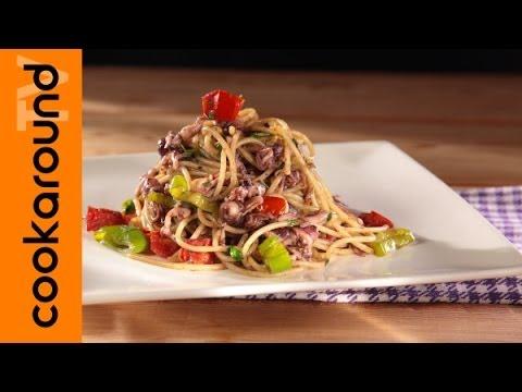 spaghetti con calamari spillo - ricetta