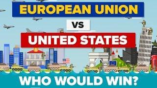 Hvem har det stærkeste militær i år 2017? USA eller EU? EU bruger kun en tredjedel af hvad USA bruger på forsvar, men er det ...