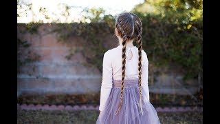 Banded Twist Braid | Athletic Hairstyle | Cute Girls Hairstyles