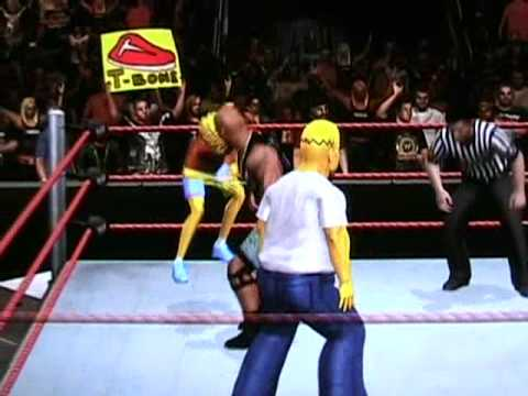 Homer and Bart Simpson Vs Stone Cold