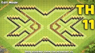 Town Hall 11 Troll Base Design Triple X (xXx) - Clash of Clans (COC TH11)