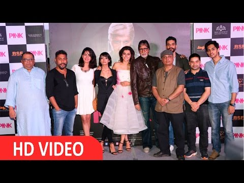 Amitabh Bachchan & Taapsee Pannu At Trailer Launch Of Film Pink