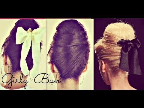 ★HAIR TUTORIAL: CUTE GIRLY HAIR BUN HAIRSTYLES FOR MEDIUM LONG HAIR |RETRO 60s SOCK BUNS | UPDOS