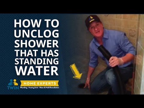 How To Unclog a Shower with Standing Water FAST & EASY